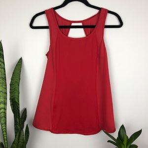 Lululemon Red Flyaway Tulip Active Top